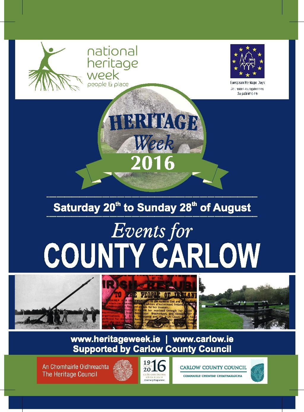 Carlow Heritage Week 2016